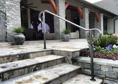 Simplistic hand rail grey