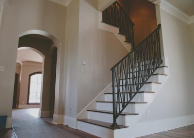 interior railing and stairwell